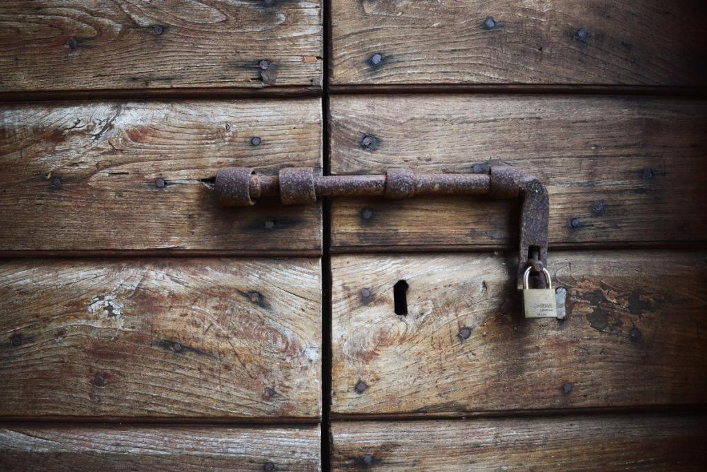 A locked door that can be opened by self-improvement, the key to happines
