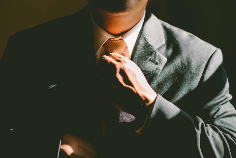 A successful man in a tie thanks to self hypnosis audio