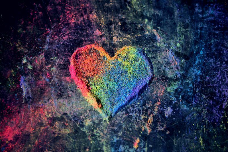 A heart shaped by crayon dust illustrating what is heart-centered hypnotherapy and why it is effective